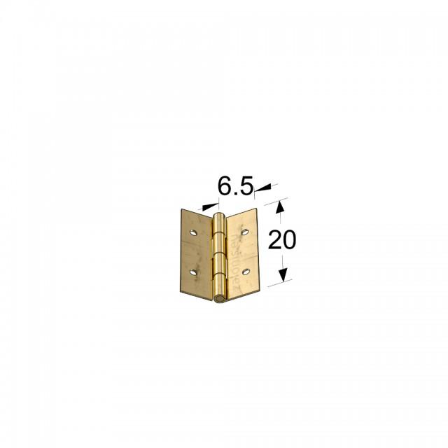 STEEL FLAT HINGE 13x20 ITALY / GOLD